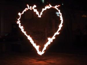 Flammeneffekte - brennendes Herz